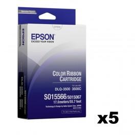 Epson S015566 / S015067 Ribbon x5