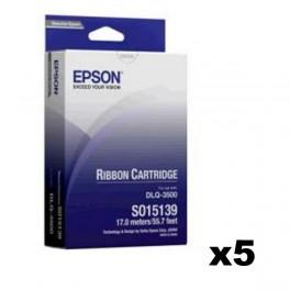 Epson S015571 / S015139 Ribbon x5