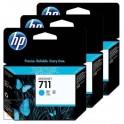 HP-711 Cyan 3-pack