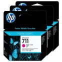 HP-711 Magenta 3-pack