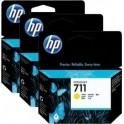 HP-711 Yellow 3-pack